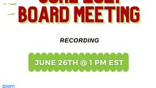 June 2021 Board Meeting