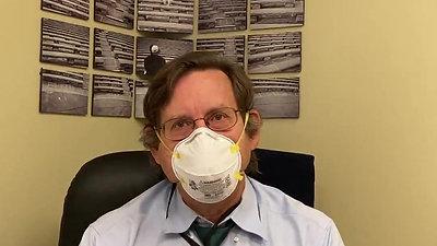 Dr. Dappen explains proper mask use