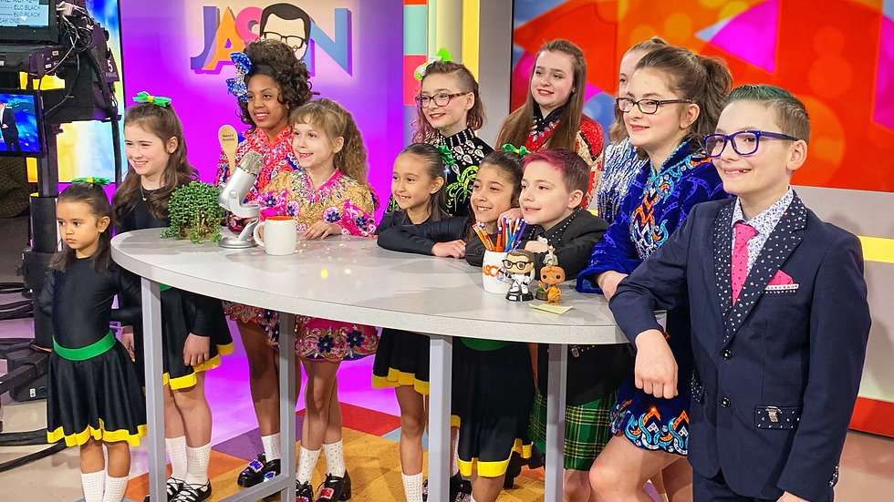 Hudson Irish Dance Visits The Jason Show