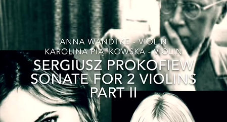 Prokofiew - Sonate for 2 violins Part 2