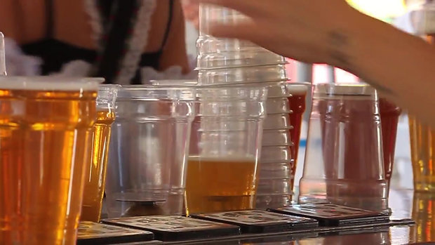Bottoms Up Beer Draft Table doing it's thing at Nashville's Oktoberfest