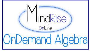MindRise OnDemand  - Algebra