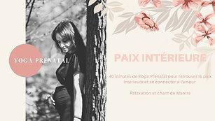 Yoga Prénatal Paix Intérieure