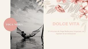 Yoga Nidra Dolce Vita