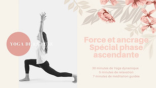 Yoga de la Lune phase ascendante force et ancrage