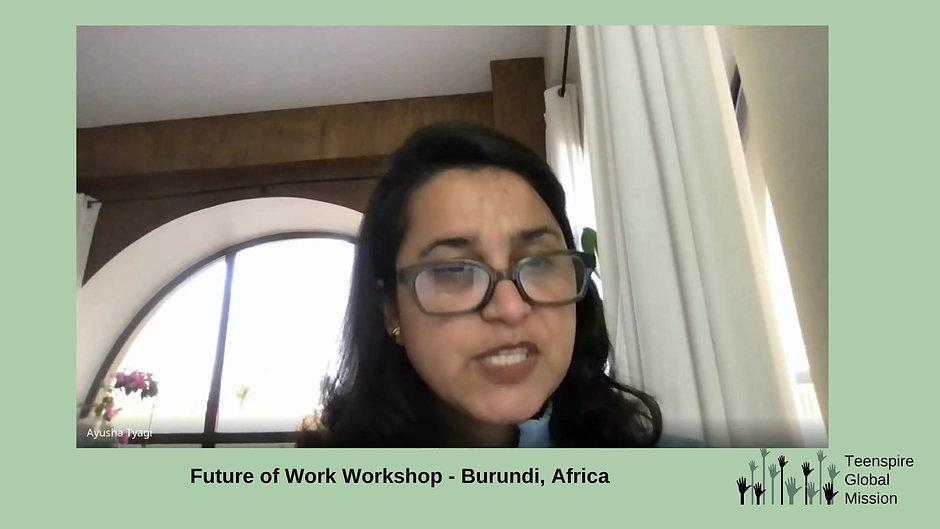Future of Work Workshop Burundi, Africa