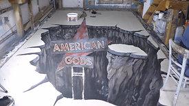 AMERICAN GODS 3D Street Artwork Timelapse