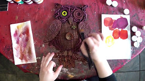 Funky Owl - Part 2, Colouring the owl