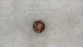 Simple Brooch Project - Fabric Sculpting