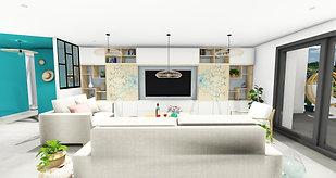 Rénovation d'une maison, aménagement, agencement et décoration d'un salon, à Garéoult, par votre architecte décorateur d'intérieur Mosser Intérieur Design dans le Var