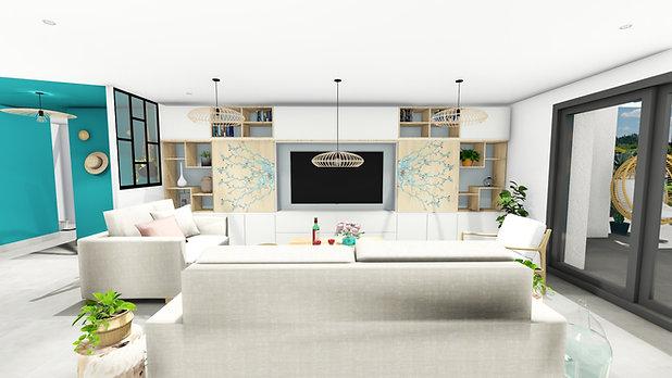 Aménagement, agencement et décoration d'une pièce de vie à Garéoult, par votre architecte décorateur d'intérieur Mosser Intérieur Design, dans le Var