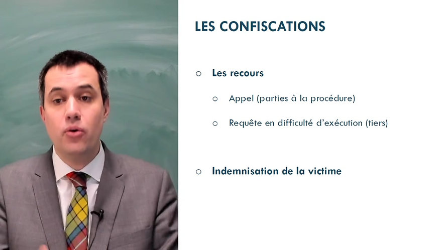 Les confiscations