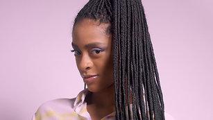 Braids in ponytail