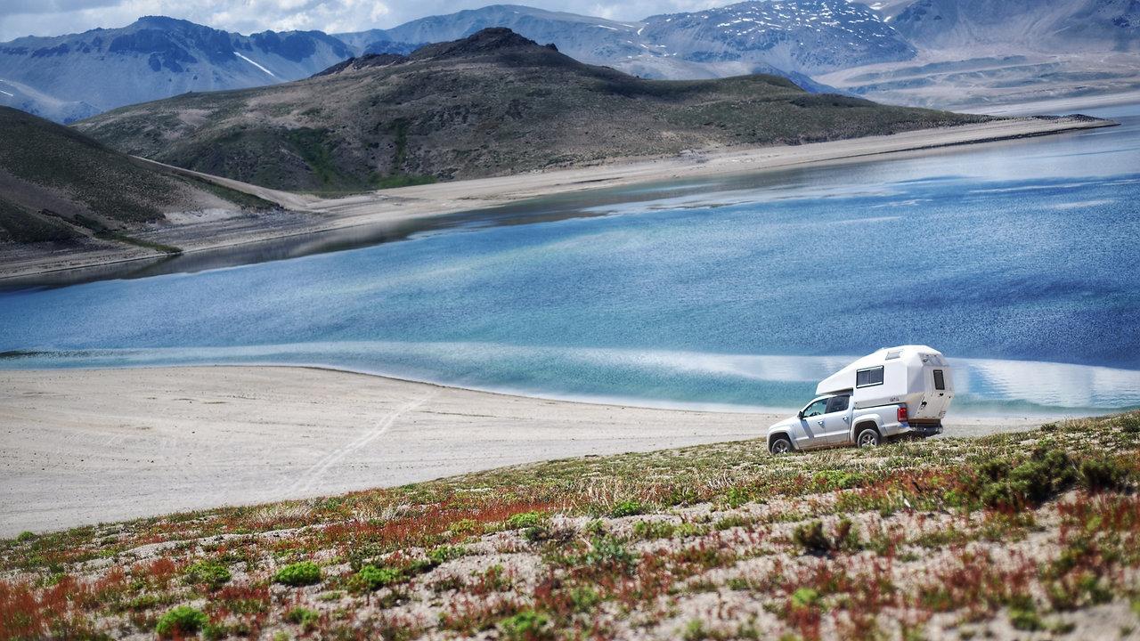 Coati Camper in Chilean Terrain