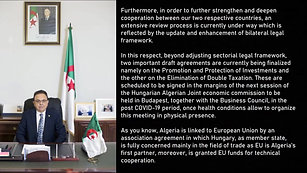 Virtual Algerian-Hungarian Business Council