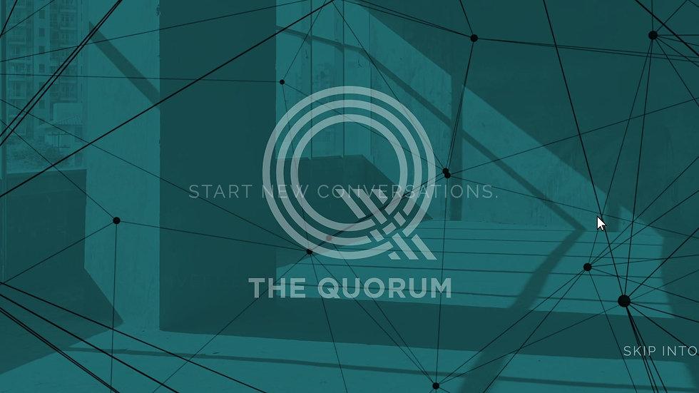 The Quorum Website mock
