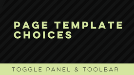 Page Template Choices