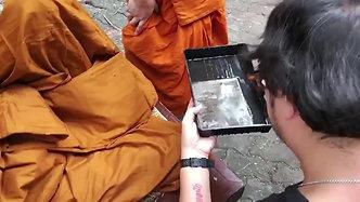 ภาพฟิล์มกระจกเปียก หลวงปู่ทองคำ สุวโจ เกจิเเห่งไทย-ลาว