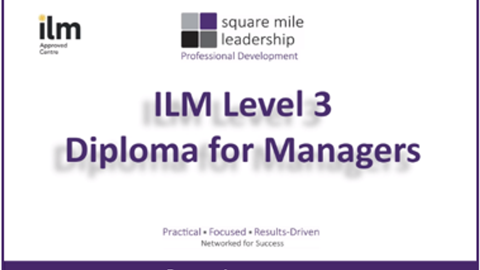 Career Investment - ILM Level 3 Diploma for Managers - 4.19