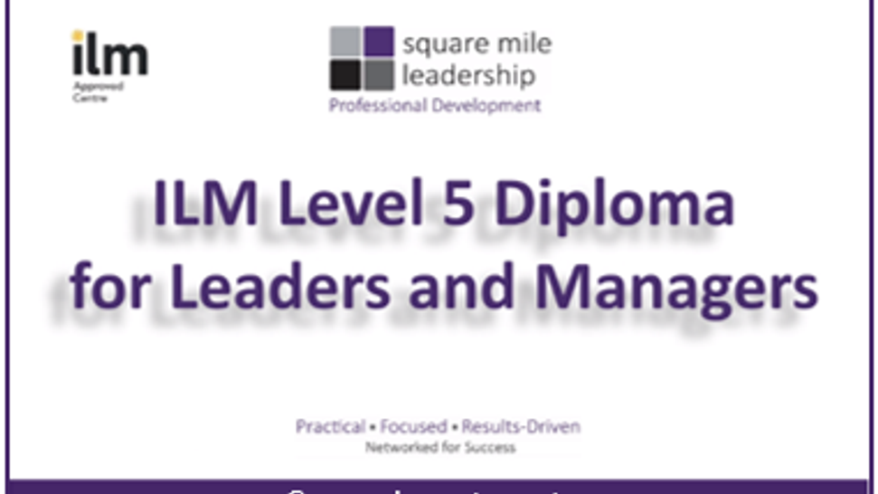 Career Investment - ILM Level 5 Diploma for Leaders and Managers - 4.24