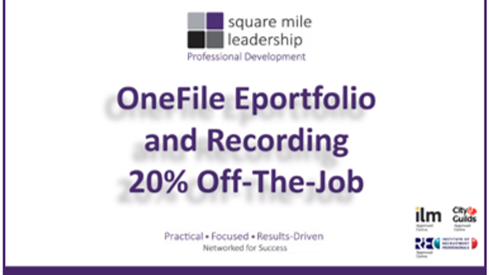 OneFile and Recording 20% OTJ - Full HD - 1.48