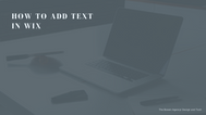 How to add text in Wix