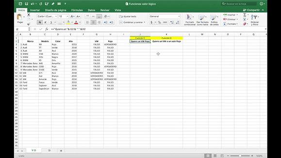 Microsoft Excel - Función Y / O