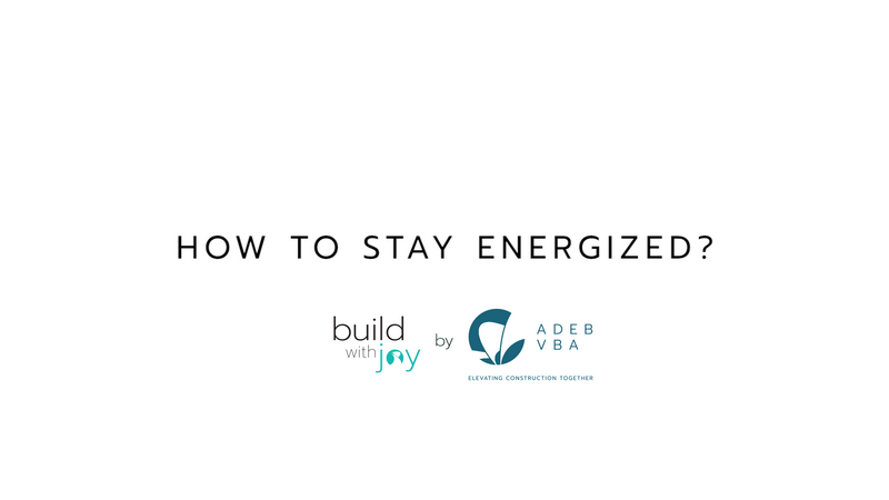 How To Stay Energized