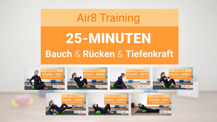 25-Minuten Bauch + Rücken + Tiefenkraft