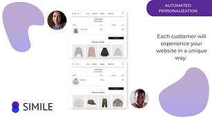 Simile Personalization Suite Video