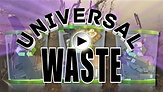 "Universal Waste ""Recycling"""