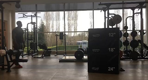 "Ryan Lauderdale doing a 52"" box jump at Nike WHQ"