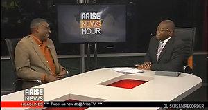 Chuba Obi at Arise TV studio - 9 Nov 2017