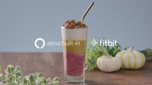 Cranberry Pie Layered Smoothie featuring Alexa on FitBit