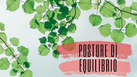 Tre semplici posture di equilibrio