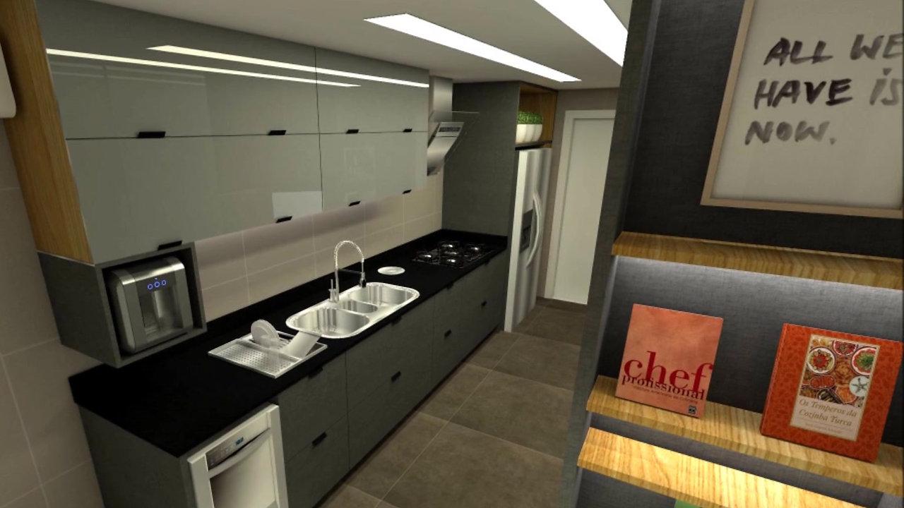 Vídeo cozinha LA por Grama Arquitetura