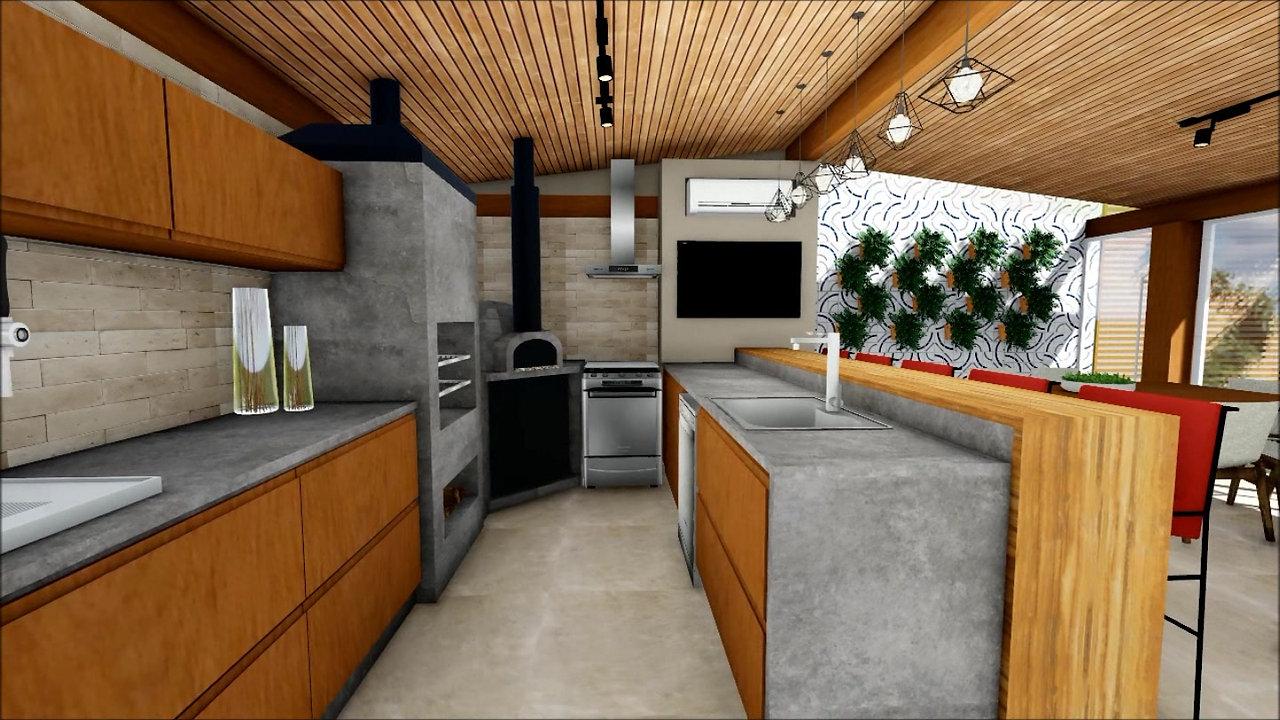 vídeo área gourmet ML por Grama Arquitetura