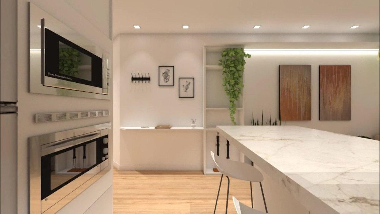 Living JA por Grama Arquitetura