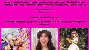 Princess Birthday Message - Belle