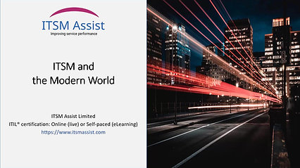 FREE: ITSM and the Modern World
