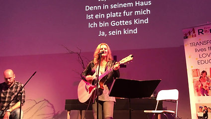 Sarah leads worship in Germany