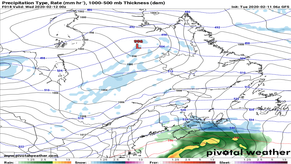 Snow, Rain, and Strong Wind Heading For Atlantic Canada