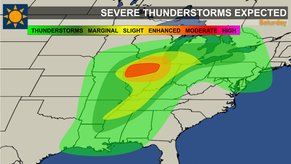Severe Thunderstorms for Portions of Midwest