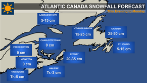 Storm Heading to Parts of Atlantic Canada