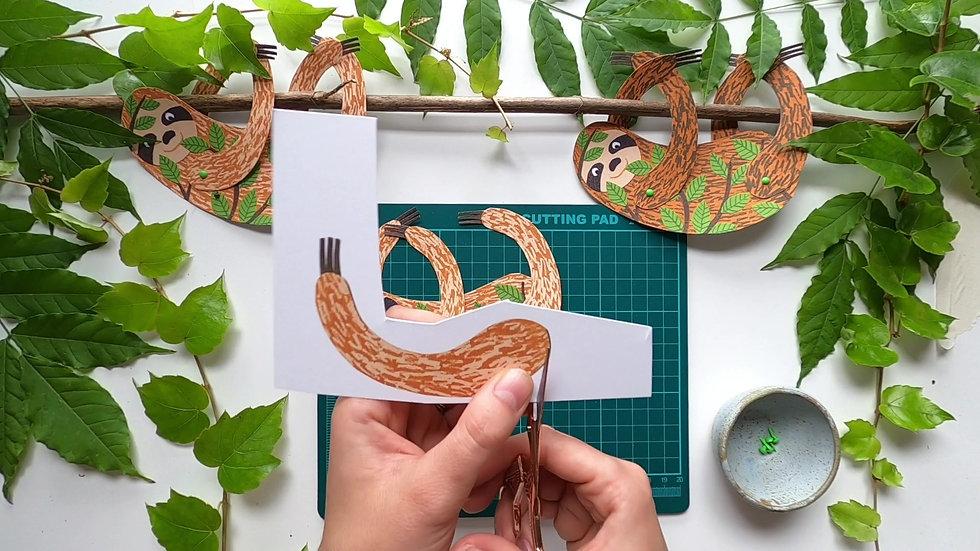 Making a split pin sloth