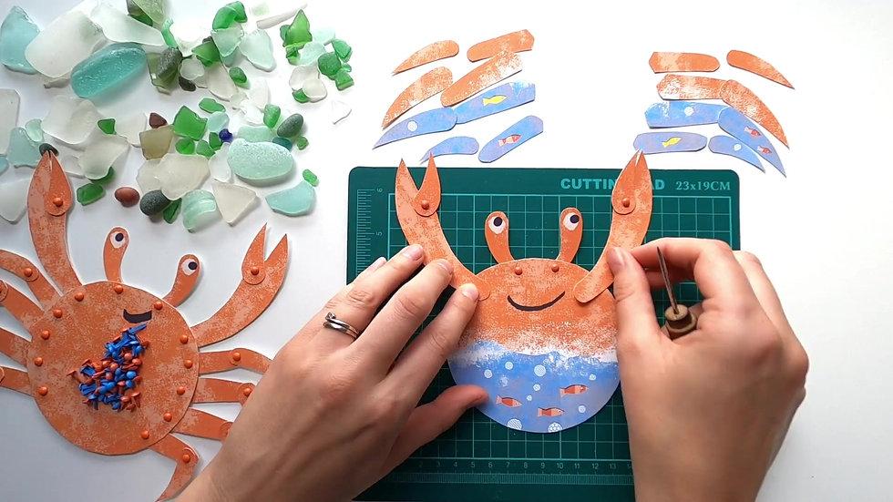 Making a split pin crab