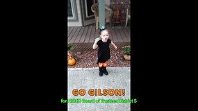 """Clare says """"Go Gilson!"""""""