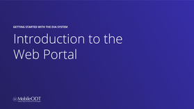 Introduction to the web portal
