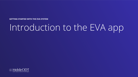 Introduction to the EVA app