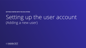 Setting up the user account